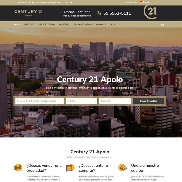 Website Century 21 Apolo
